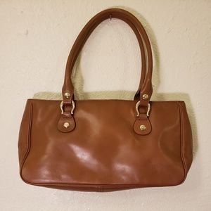 Kate Spade purse, 2 handles, tan leather
